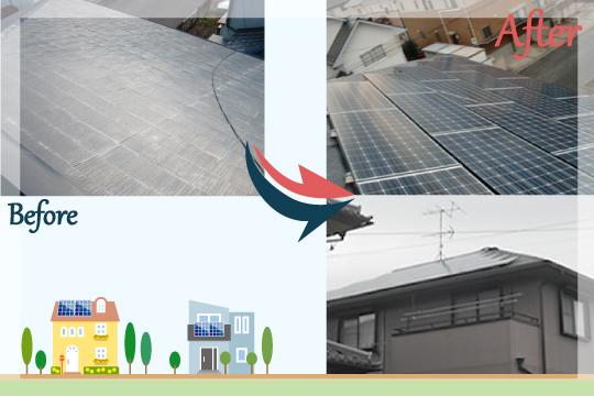 お客様の声 茨城県牛久市 太陽光発電システム工事
