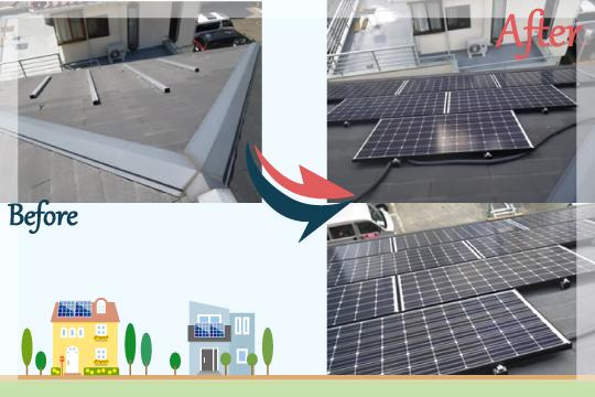 お客様の声 東京都三鷹市 太陽光発電システム工事