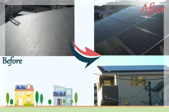 お客様の声 千葉県松戸市 太陽光発電システム工事